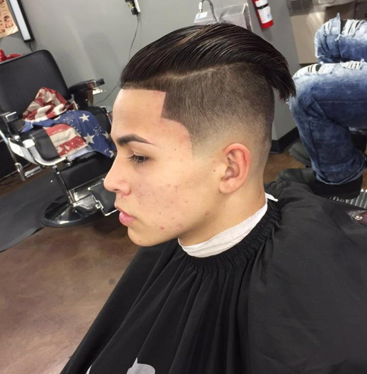 low fade hairstyle idea