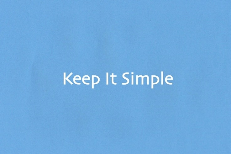 keep it simple design simplicity