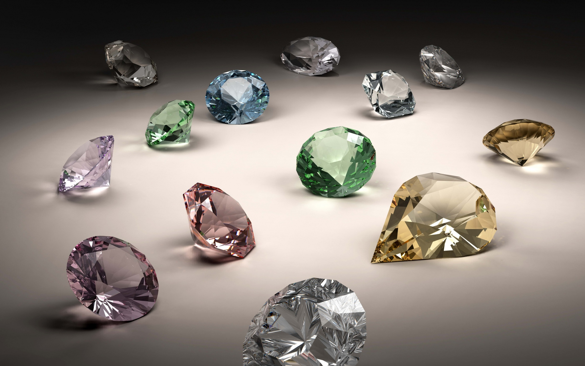 beautiful collection of diamonds