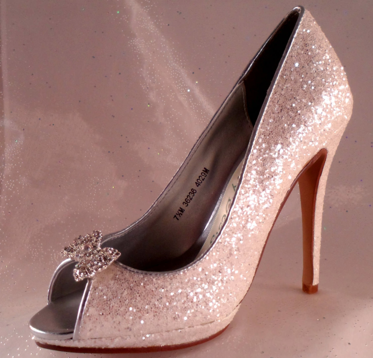 Elegant Silver Bridal High Heels