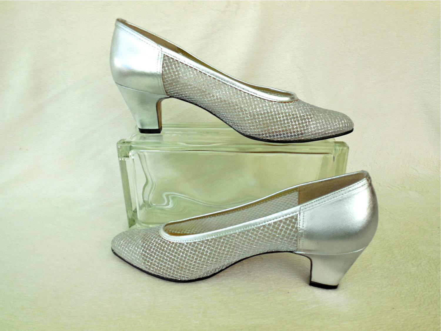 Vintage Transparent Silver High Heels