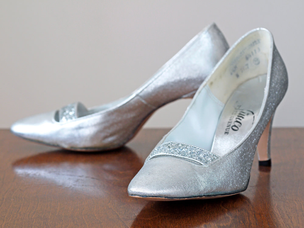 Beautiful Vintage Silver High Heels