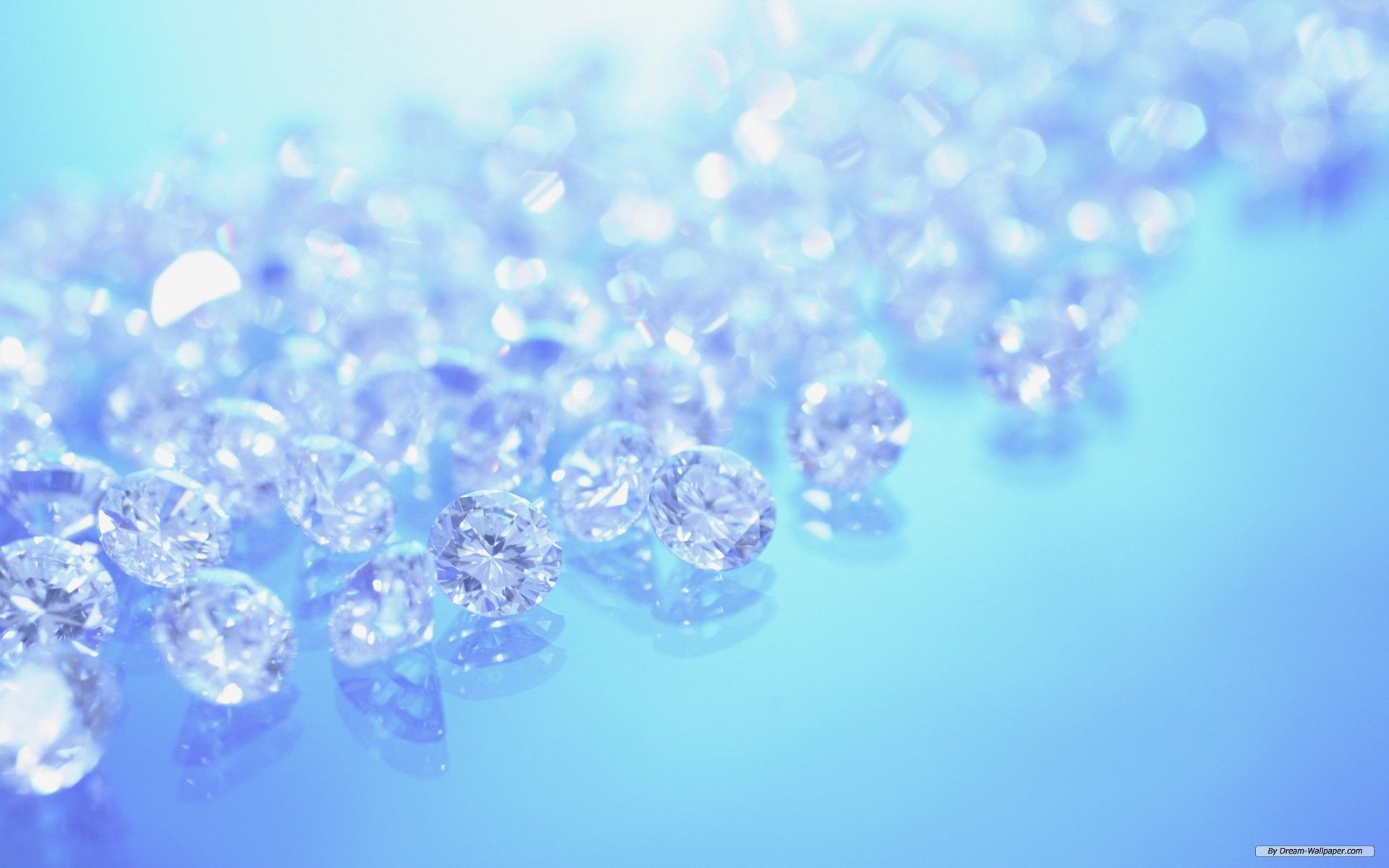 Blue Crystal Diamond Background.