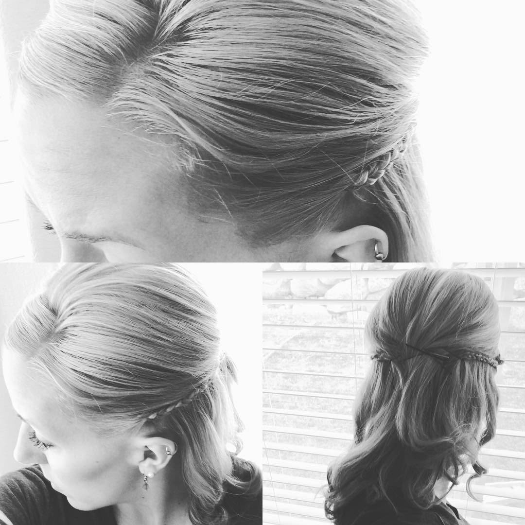 Adorable Half Up Half Down Bridal Hairstyle