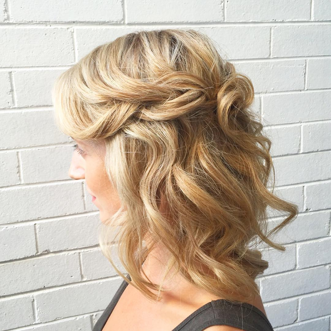 Sleek Half Up Hald Down Braid Wedding Hair Style