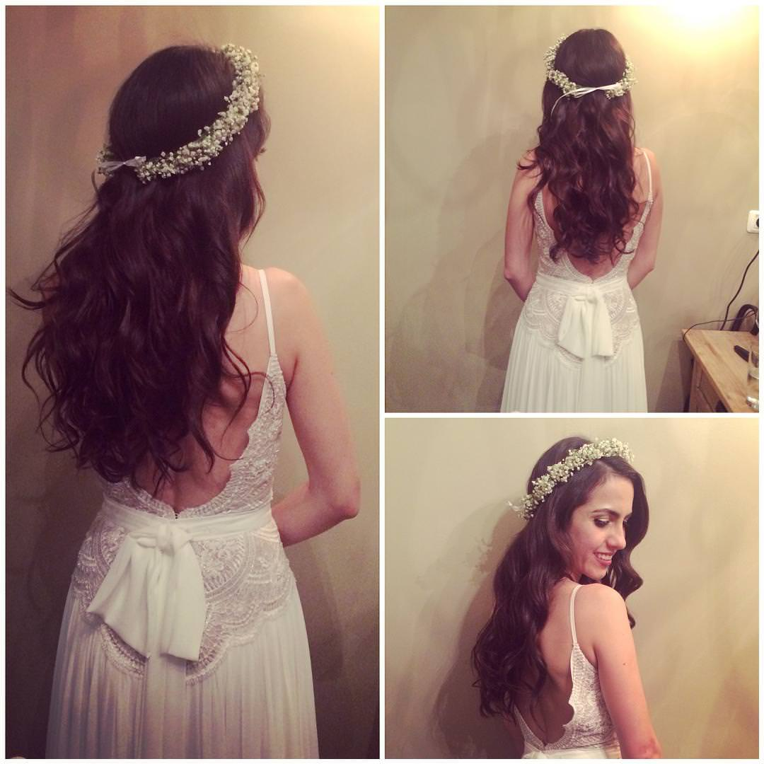 Classic Half Up Half Down Wedding Hairstyle