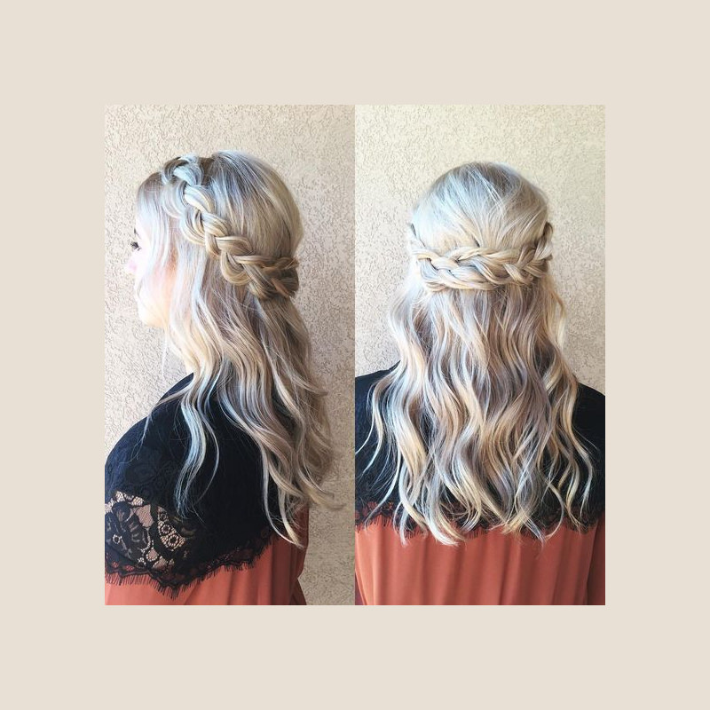 Beautiful Bridal Crown Wedding Hairstyle