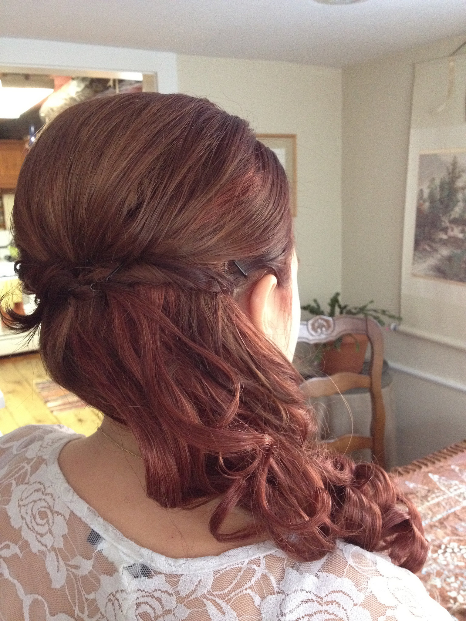 Charming Roll up Knot Wedding Hair Style