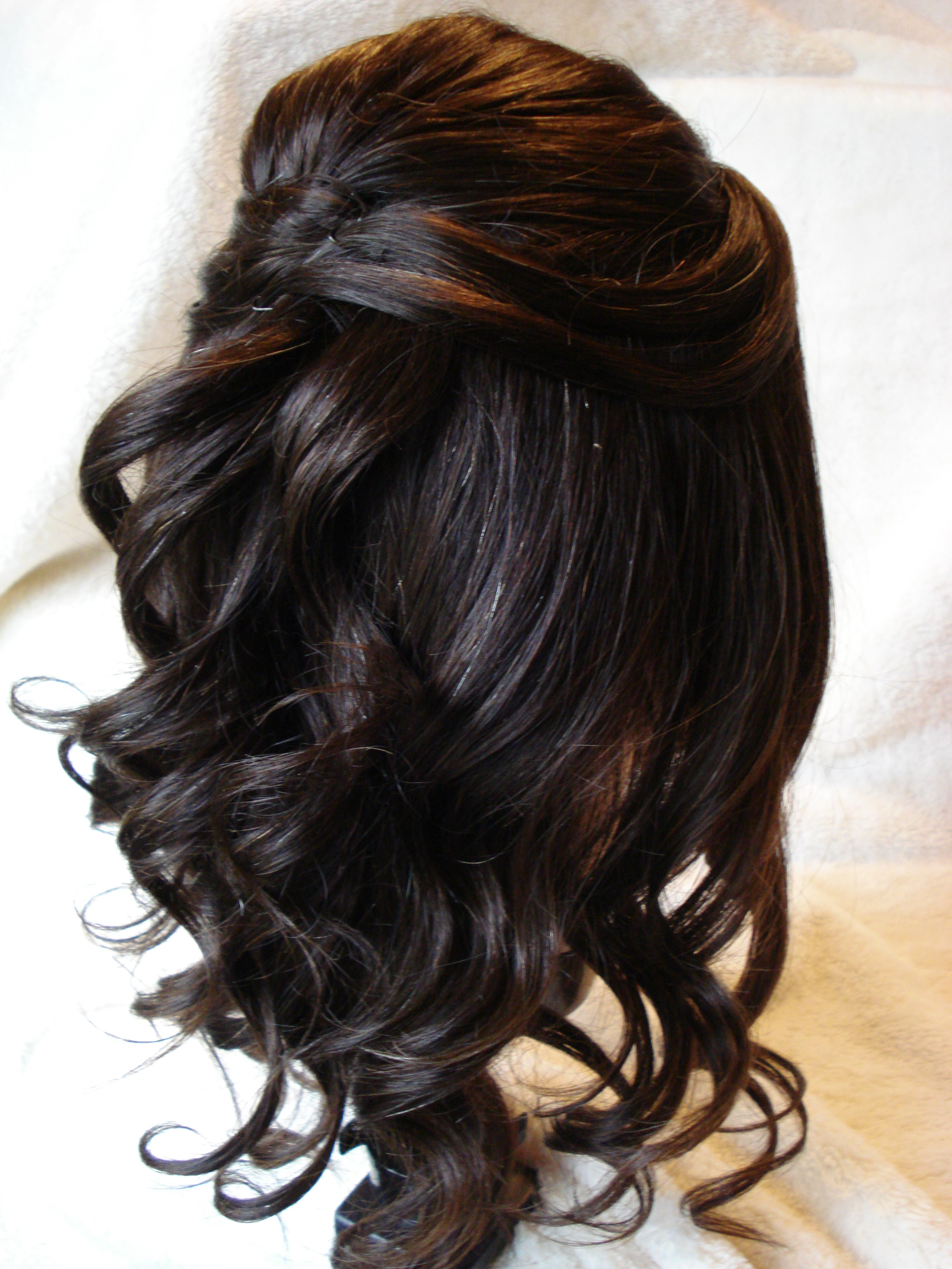 Cute Curly Knot Wedding Hairstyle