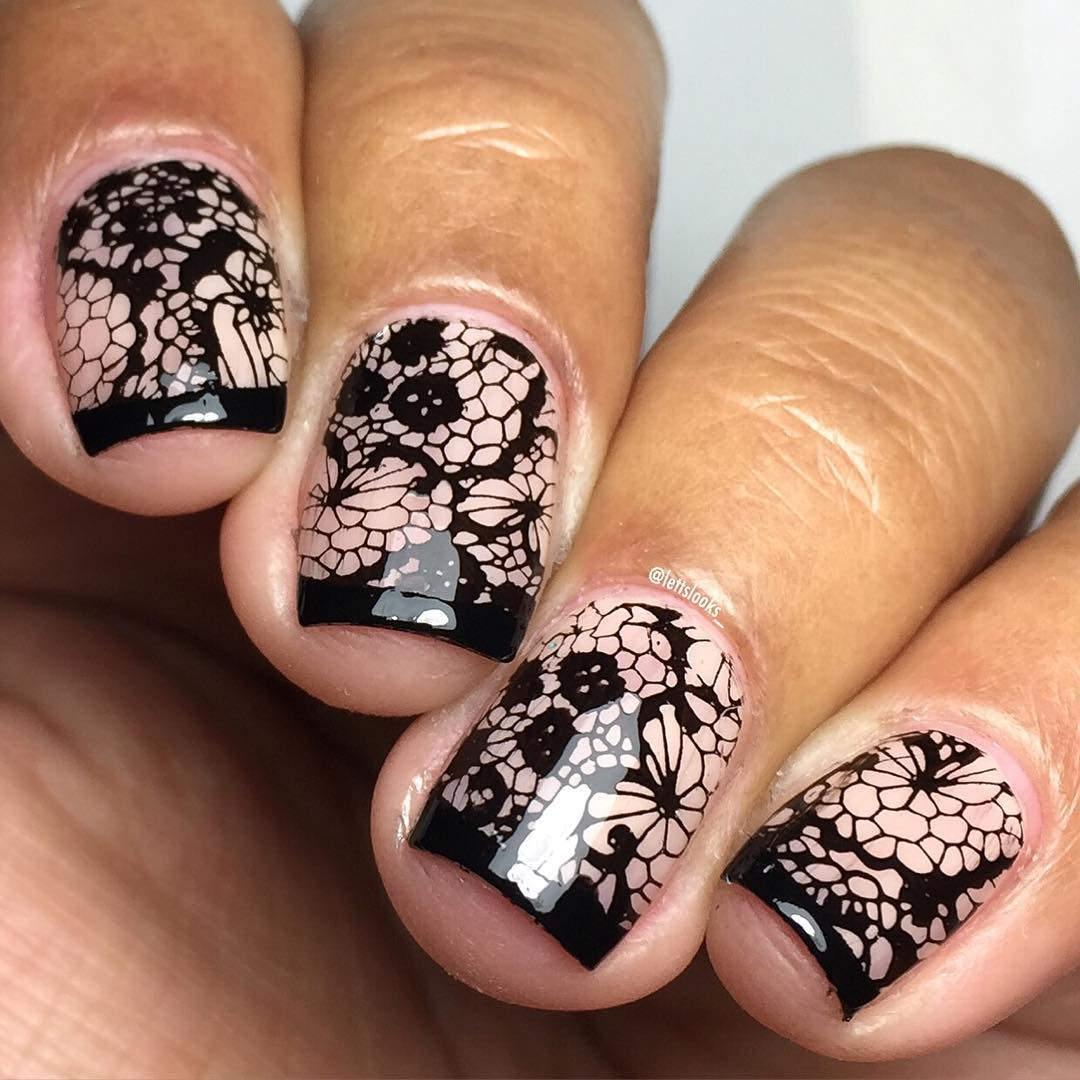 Sparkling Nail Design.