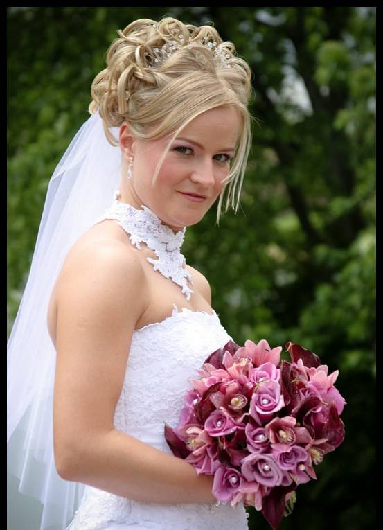 Amazing Bridal Crown Wedding Hair style