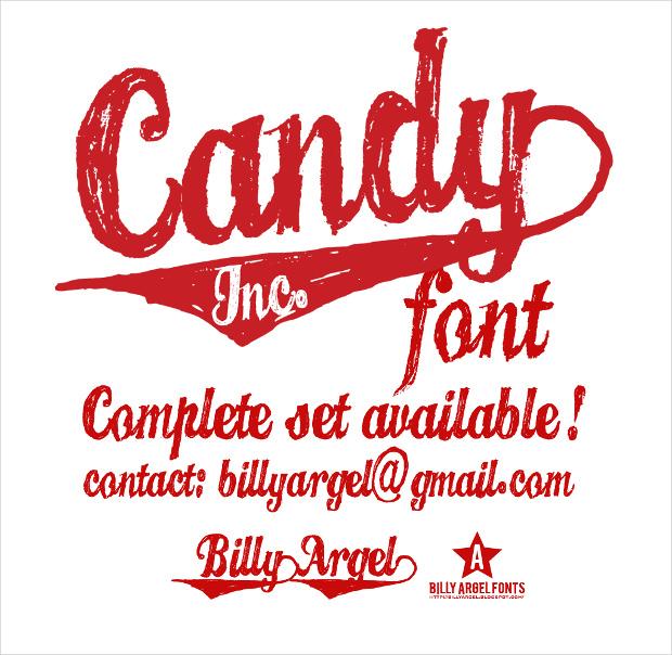Candy INC. Baseball Font