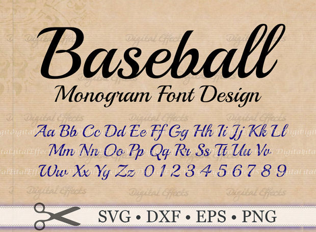 3 different baseball font