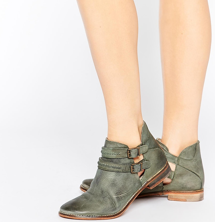 Breaburn Double Buckle Ankle Boots