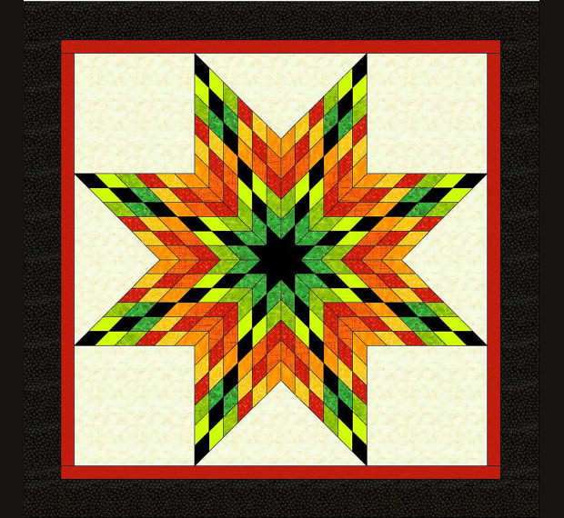 Multicolor Star Quilt