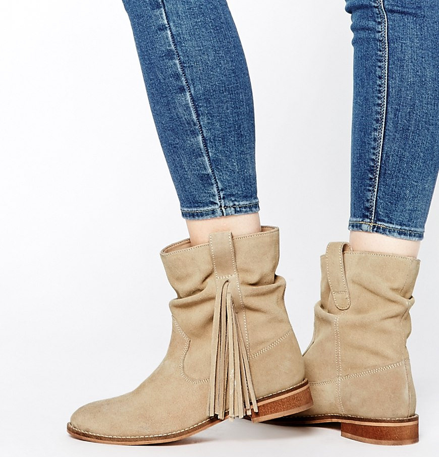 Asos Allok Suede Fringing Boots