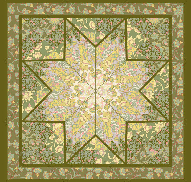 Flat Star Quilt Patterns