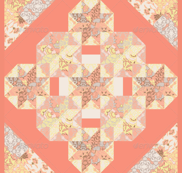 Solid Pink Star Quilt Patterns
