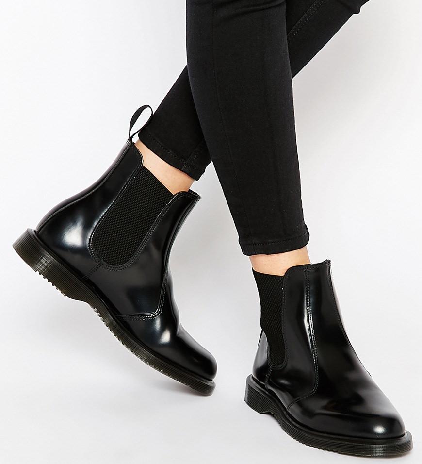 Flora Black Chelsea Boots