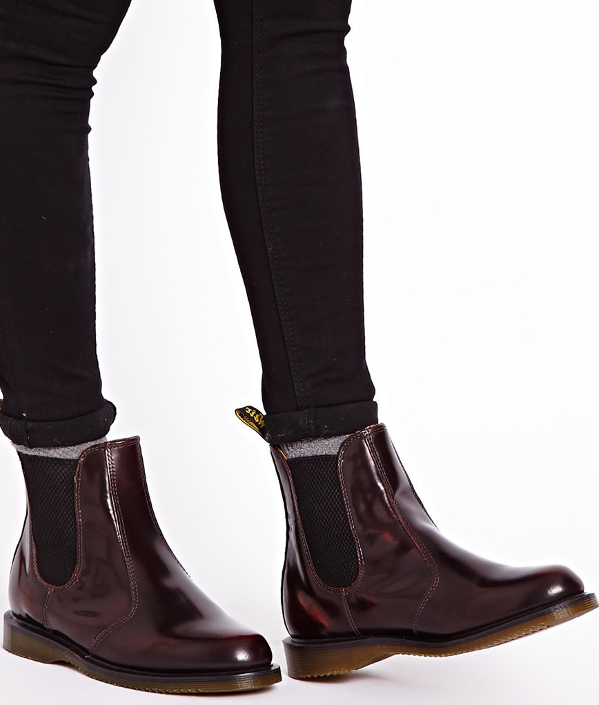 Flora Burgundy Chelsea Boots