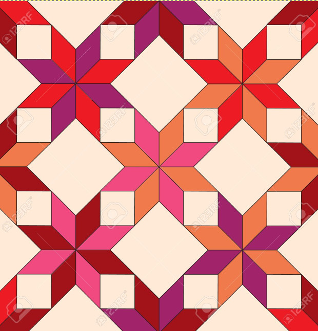 Beautiful Seamless Star Shape Quilt Pattern