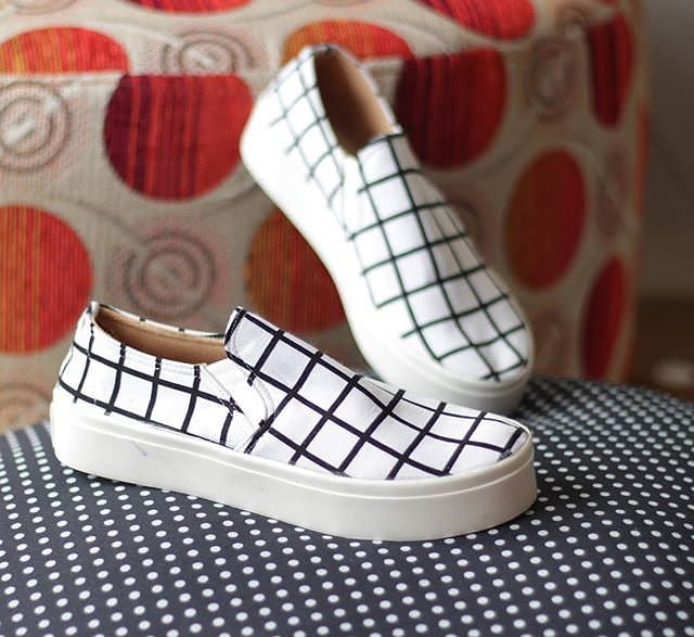 White & Black Shoes For Women