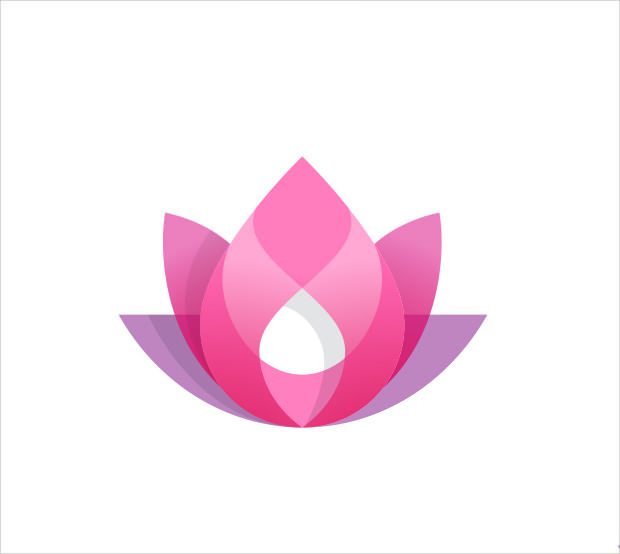 Elegant flower Logo Illustration