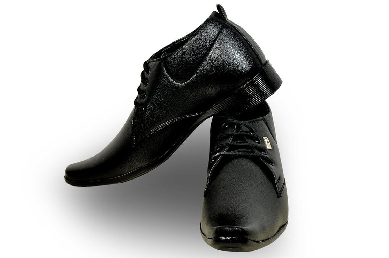 rosso italiano black light formal shoe
