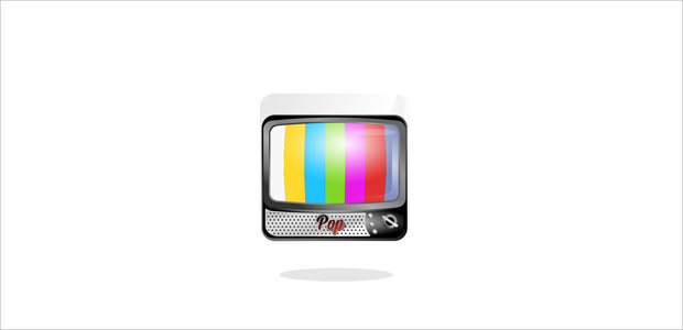 vintage style tv logo