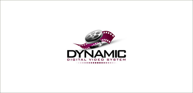flat digital company film logo