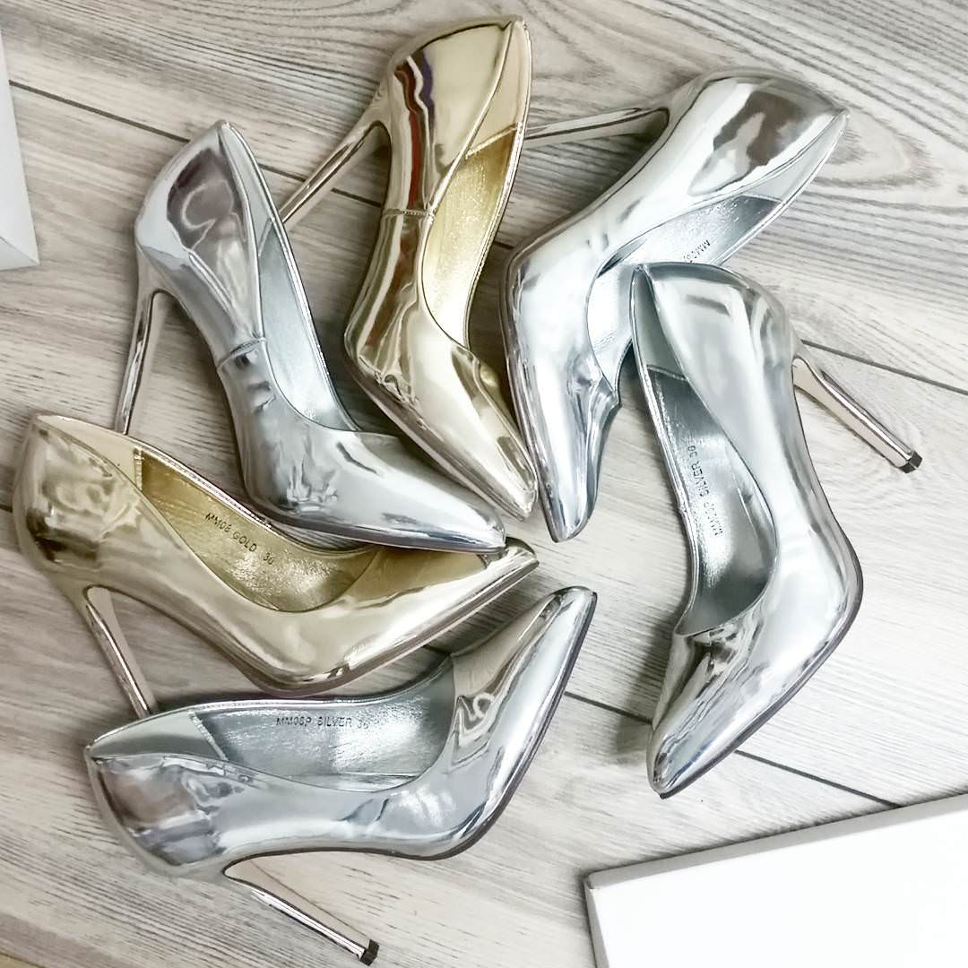 Silver High Heels For Women