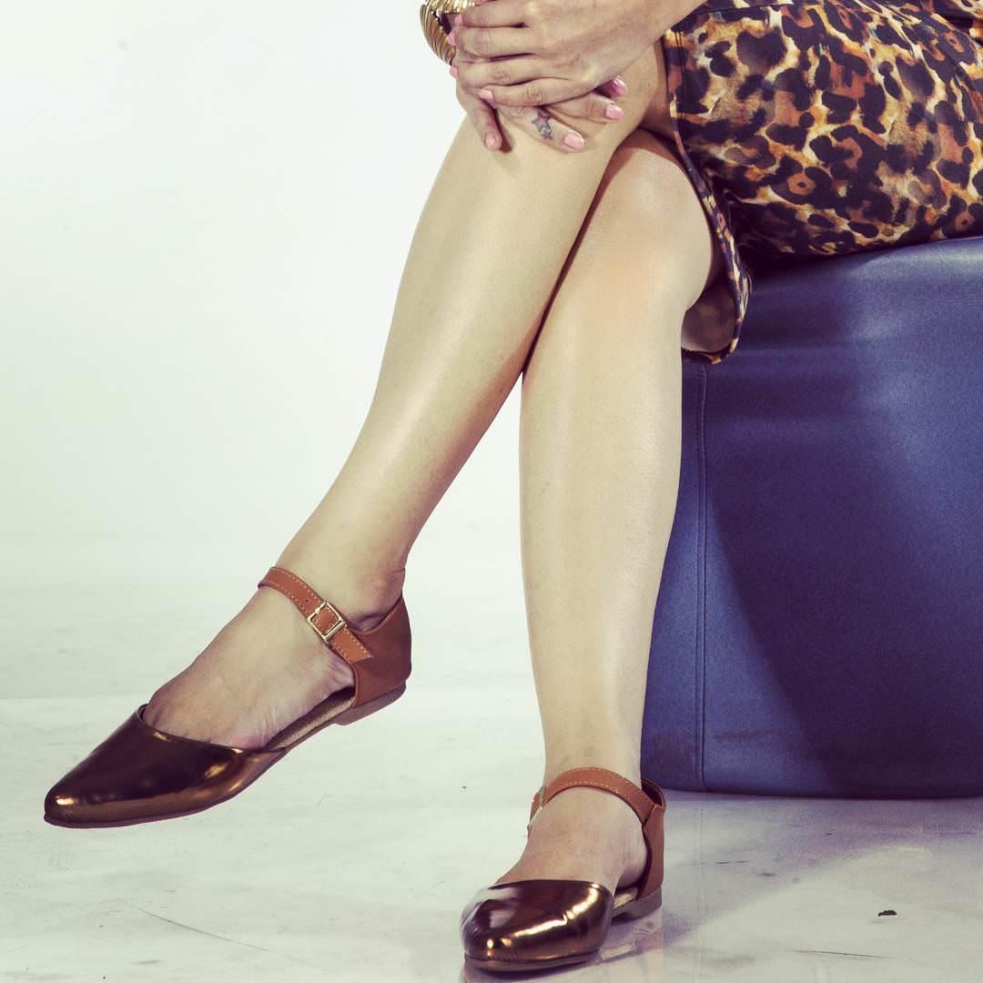 Flat Metallic Shoes For Women
