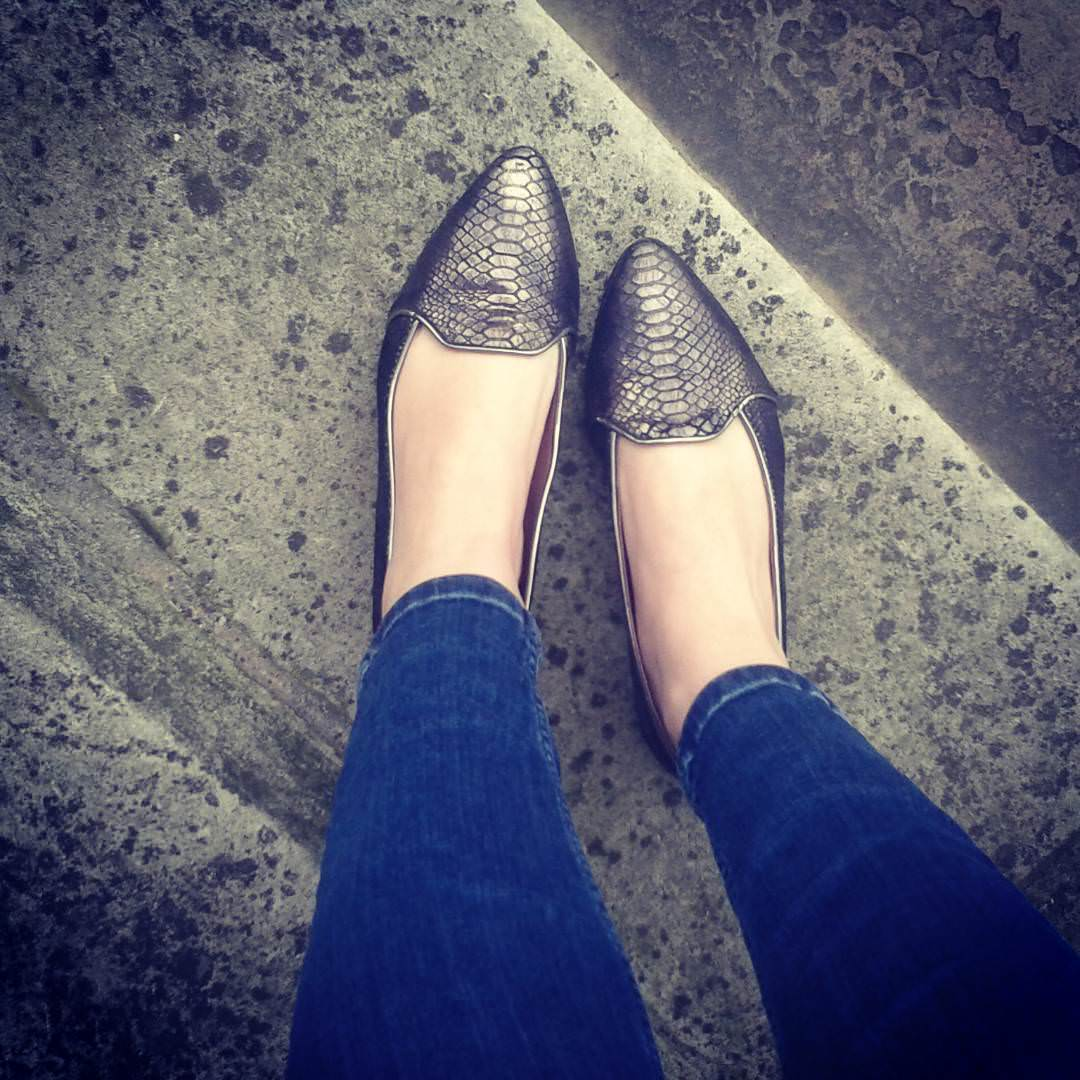 lovely metallic shoes