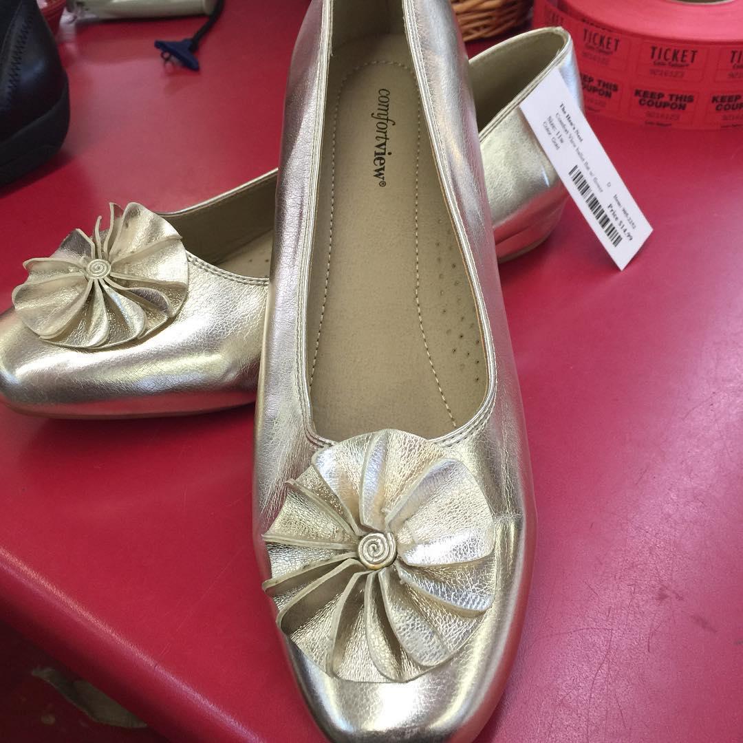 Flower Metallic Shoes