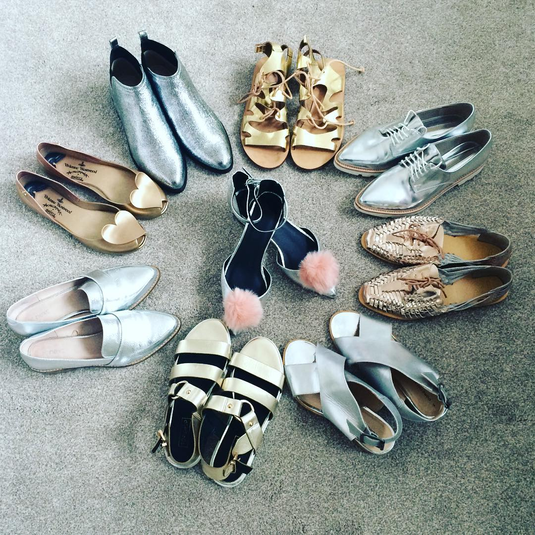 different types of metallic shoes