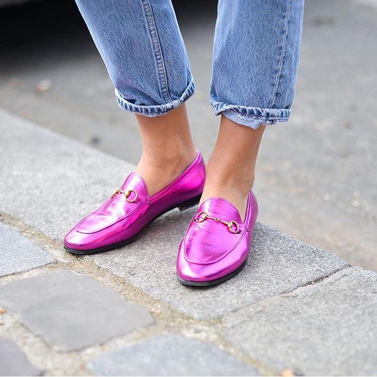 Pink Metallic Shoes