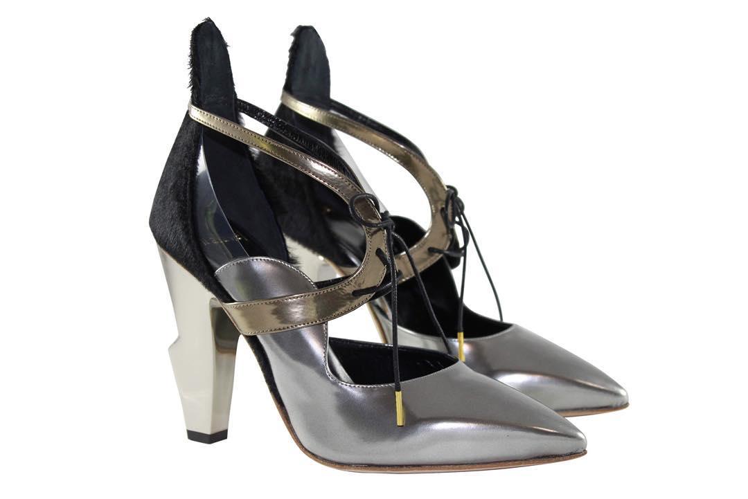 Metallic Silver Shoes