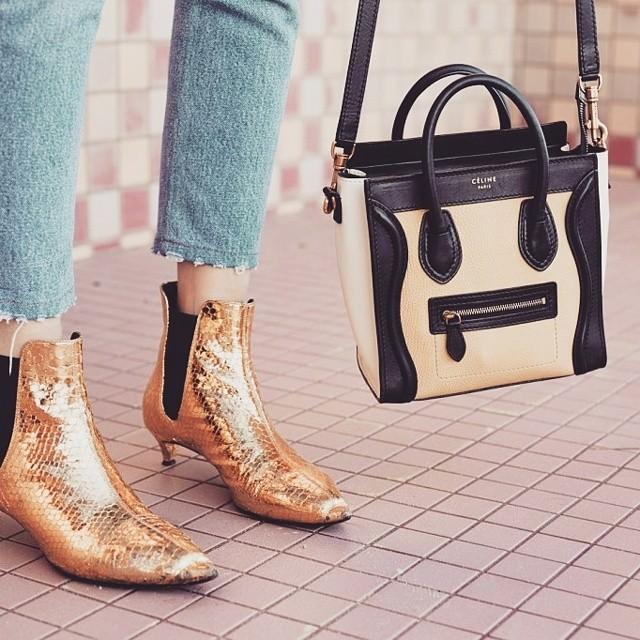 Yellow Gold Metallic Shoes