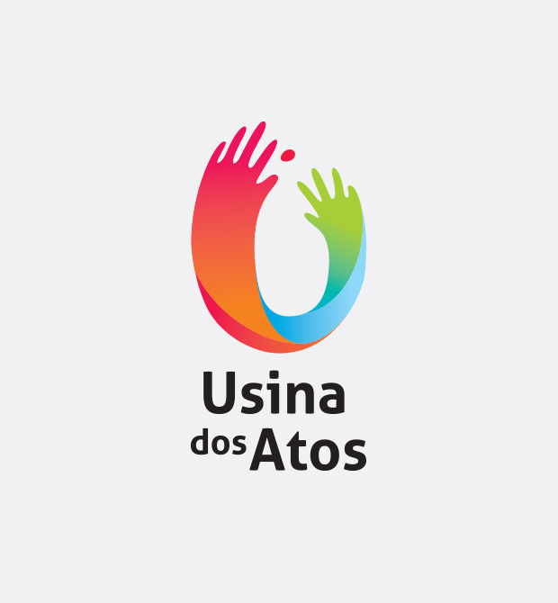 Creative Colorful Hand Logo