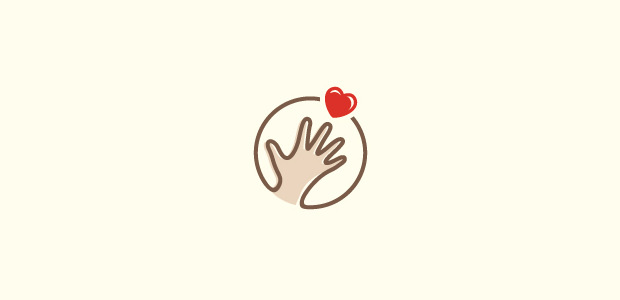 Cute Lovely Hand Logo