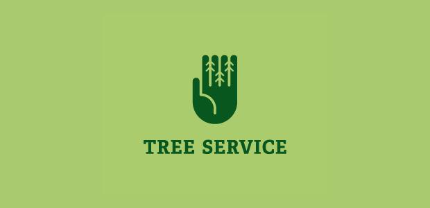 Dazzling Greenary tree Hand Logo