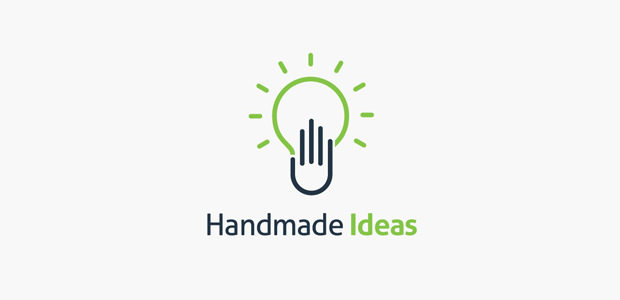 bright hand logo design