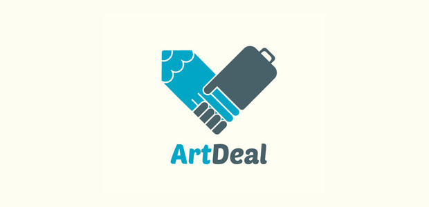 innovative art hand logo design