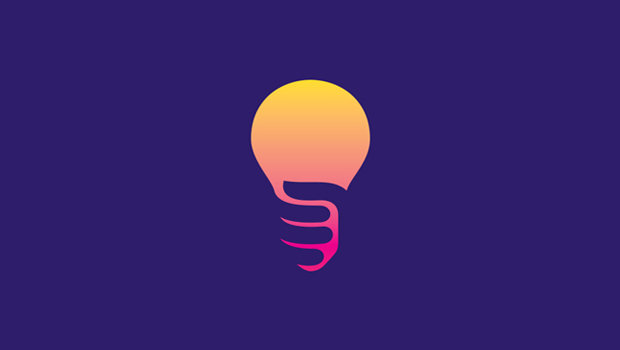 Creative Hand Catching Bulb Logo