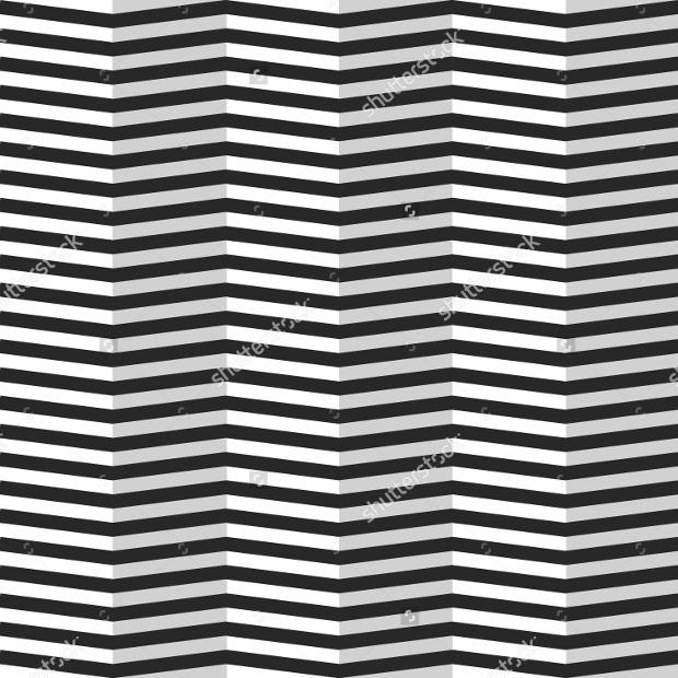 Horizontal Zigzag Line Vector Pattern