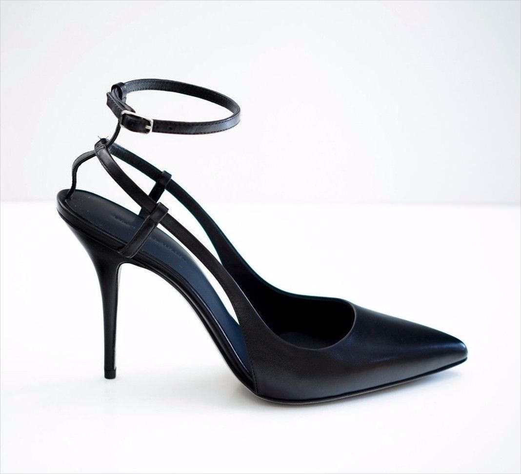 Alexander Wang Black Leather Sling Back
