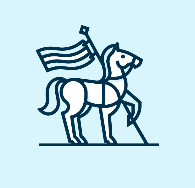beautiful white horse logo