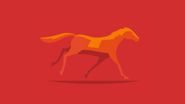 gentle running horse logo