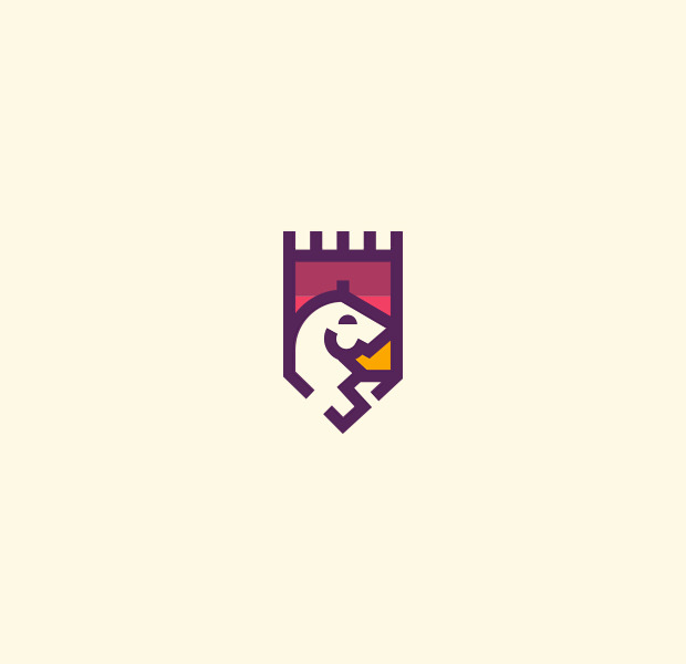 amazing castle crest logo design