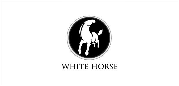 Stunning White Horse Logo